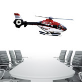 4 ft x 6.6 ft Fan WallSkinz-Eurocopter EC 135 Over Louisiana Marshlands