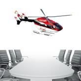 4 ft x 6.6 ft Fan WallSkinz-Eurocopter EC 145 Over Louisiana Marshlands