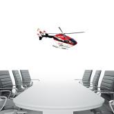 1 ft x 3 ft Fan WallSkinz-Eurocopter EC 145 Over Louisiana Marshlands