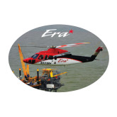 Medium Decal-Sikorsky S76 Passing Rig in Gulf of Mexico, 7 inches wide x 4.72 inches tall