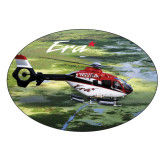 Large Decal-Eurocopter EC 135 Over Louisiana Marshlands, 8.5 inches wide x 5.73 inches tall