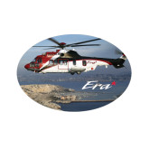 Extra Small Decal-Eurocopter EC 225 Maiden Flight in France, 3.5 inches wide x 2.36 inches tall