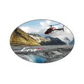 Extra Small Decal-A-Star AS 350 Alaska Flight Seeing Glaciers, 3.5 inches wide x 2.36 inches tall
