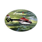 Extra Small Decal-Eurocopter EC 135 Over Louisiana Marshlands, 3.5 inches wide x 2.36 inches tall