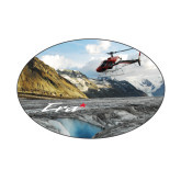 Small Decal-A-Star AS 350 Alaska Flight Seeing Glaciers, 5 inches wide x 3.375 inches tall