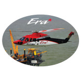 Extra Large Decal-Sikorsky S76 Passing Rig in Gulf of Mexico, 12 inches wide x 8.1 inches tall