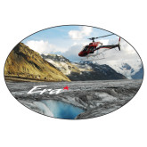 Extra Large Decal-A-Star AS 350 Alaska Flight Seeing Glaciers, 12 inches wide x 8.1 inches tall