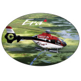 Extra Large Decal-Eurocopter EC 135 Over Louisiana Marshlands, 12 inches wide x 8.1 inches tall