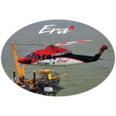 Super Large Decal-Sikorsky S76 Passing Rig in Gulf of Mexico, 18 inches wide x 12.14 inches tall