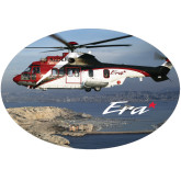 Super Large Decal-Eurocopter EC 225 Maiden Flight in France, 18 inches wide x 12.14 inches tall