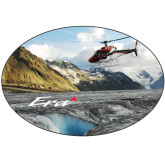 Super Large Decal-A-Star AS 350 Alaska Flight Seeing Glaciers, 18 inches wide x 12.14 inches tall