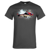 Charcoal T Shirt-Eurocopter EC 225 In GOM Skies