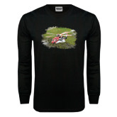 Black Long Sleeve TShirt-S92 Over Grass