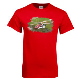 Red T Shirt-S92 Over Grass