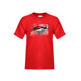 Youth Red T Shirt-First Augusta Westland AW139 in US
