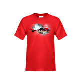 Youth Red T Shirt-Eurocopter EC 225 In GOM Skies