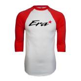 White/Red Raglan Baseball T-Shirt-Era