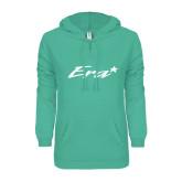 ENZA Ladies Seaglass V Notch Raw Edge Fleece Hoodie-Era