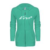 ENZA Ladies Seaglass Light Weight Fleece Full Zip Hoodie-Era
