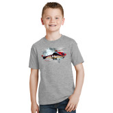 Youth Grey T-Shirt-Eurocopter EC 225 In GOM Skies