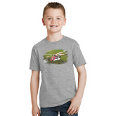 Youth Grey T-Shirt-S92 Over Grass