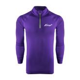 Under Armour Purple Tech 1/4 Zip Performance Shirt-Era