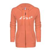 ENZA Ladies Coral Light Weight Fleece Full Zip Hoodie-Era