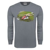 Charcoal Long Sleeve T Shirt-S92 Over Grass