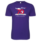 Next Level SoftStyle Purple T Shirt-70th Anniversary