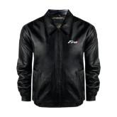 Black Leather Bomber Jacket-Era