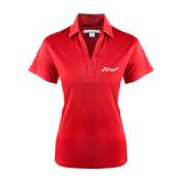 Ladies Red Performance Fine Jacquard Polo-Era