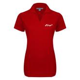 Ladies Red Dry Zone Grid Polo-Era