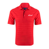 Red Horizontal Textured Polo-Era