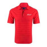 Red Horizontal Textured Polo-Era