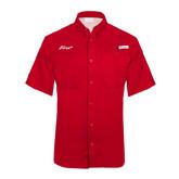 Columbia Tamiami Performance Red Short Sleeve Shirt-Era
