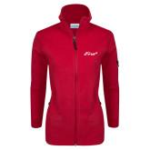 Columbia Ladies Full Zip Red Fleece Jacket-Era