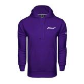 Under Armour Purple Performance Sweats Team Hoodie-Era
