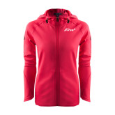 Ladies Tech Fleece Full Zip Hot Pink Hooded Jacket-Era