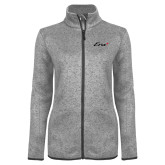 Grey Heather Ladies Fleece Jacket-Era