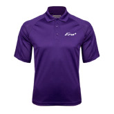 Purple Textured Saddle Shoulder Polo-Era