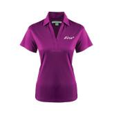 Ladies Purple Performance Fine Jacquard Polo-Era