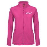 Ladies Fleece Full Zip Raspberry Jacket-Era