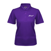 Ladies Purple Dry Mesh Polo-Era