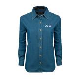 Ladies Denim Long Sleeve Shirt-Era