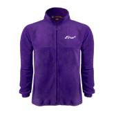 Fleece Full Zip Purple Jacket-Era