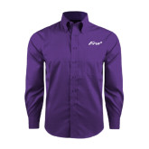 Red House Purple Long Sleeve Shirt-Era