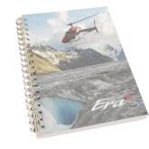 Clear 7 x 10 Spiral Journal Notebook-A-Star AS 350 Alaska Flight Seeing Glaciers