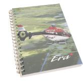 Clear 7 x 10 Spiral Journal Notebook-Eurocopter EC 135 Over Louisiana Marshlands