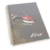 Clear 7 x 10 Spiral Journal Notebook-Eurocopter EC 145 Over Louisiana Marshlands