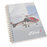 Clear 7 x 10 Spiral Journal Notebook-Eurcopter EC 225 In GOM Skies